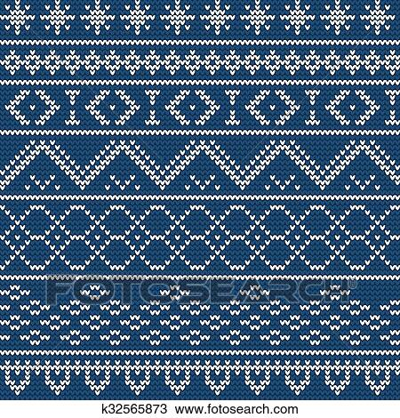 Christmas Sweater Pattern.Ugly Sweater Background 1 Clipart