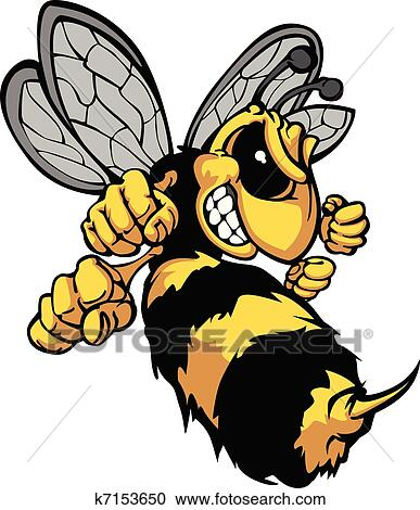 clipart of bee hornet cartoon vector image k7153650 search clip rh fotosearch com hornet clipart black and white hornet clipart black and white