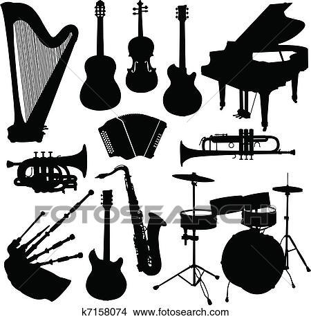 Clipart Instrumentos Musicales K7158074 Buscar Clip Art