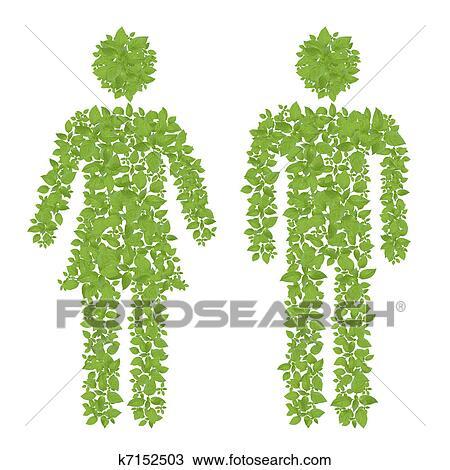 dessin plante verte m le femelle ic ne k7152503 recherchez des cliparts des illustrations. Black Bedroom Furniture Sets. Home Design Ideas