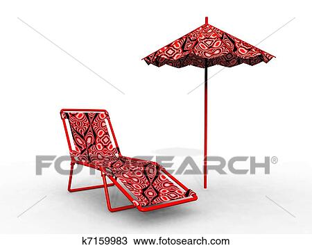 Umbrellas And Lounge Chair