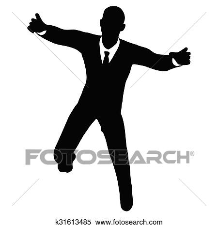 clipart of businessman silhouette k31613485 search clip art