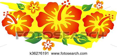 Colorful Hibiscus Flowers Clipart K36276191 Fotosearch