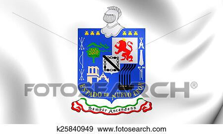 Stock illustration of flag of nuevo leon mexico k25840949 search flag of nuevo leon mexico close up publicscrutiny Image collections