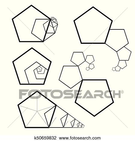 clipart of golden ratio cover template k50659832 search clip art