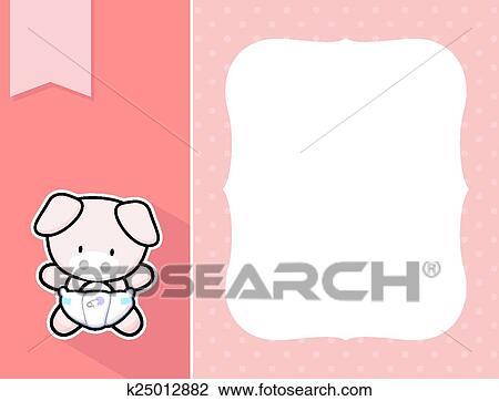 Clipart - marco, bebé, mini, cerdo k25012882 - Buscar Clip Art ...
