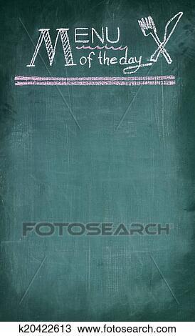 Archivio Fotografico Menu Di Il Giorno Scrittura Su Lavagna