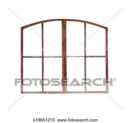 Stock Photography of old window frame isolated k19651210 - Search ...