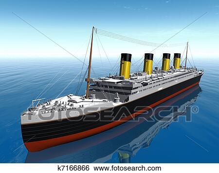 Banque D Illustrations Titanic Bateau K7166866 Recherche De