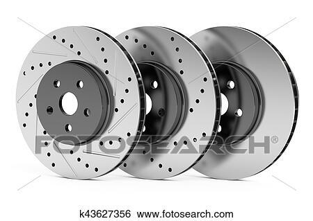 banque d 39 illustrations voiture disques frein rotors 3d rendre k43627356 recherche de. Black Bedroom Furniture Sets. Home Design Ideas
