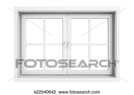 Clip Art of 3d window frame on white background k22540642 - Search ...