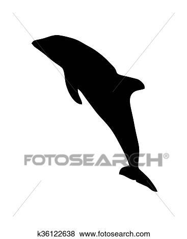arquivos de ilustração golfinho silueta k36122638 busca de clip