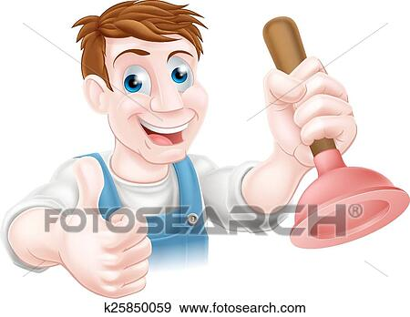 Clip Art Karikatur Taucher Mann K25850059 Suche Clipart