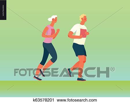 Marathon Race Group Clipart K63578201 Fotosearch