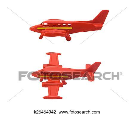 Clip Art - avión, juguete k25454942 - Buscar Clip Art, Ilustraciones ...