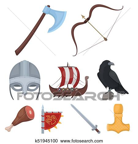 Stock Illustrations Of Ancient Warriors Of The Vikings On The Ship