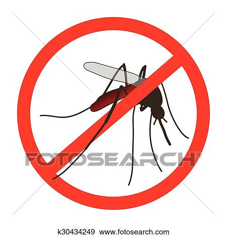 clip art of anti mosquito sign with a realistic mosquito rh fotosearch com mosquito clipart png mosquito clipart images