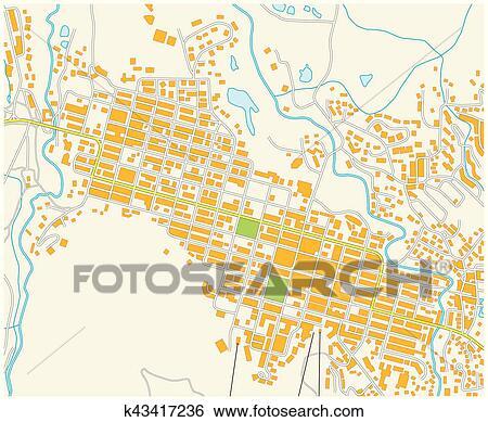 Aspen colorado city map Clip Art | k43417236 | Fotosearch