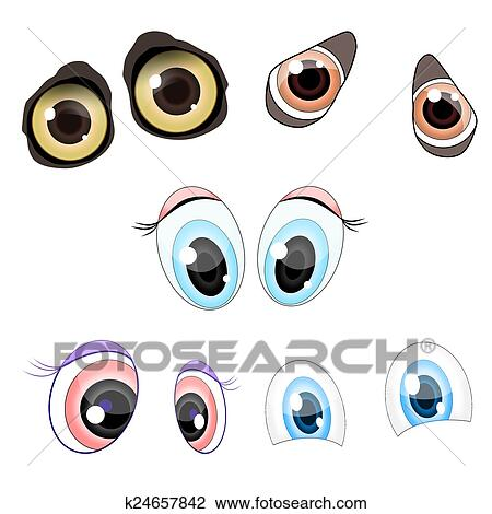 Cartoon Eyes Drawing K24657842 Fotosearch