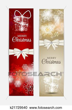 Christmas Header Clipart.Christmas Snowflakes Website Header And Banner Set Background Ve Clipart