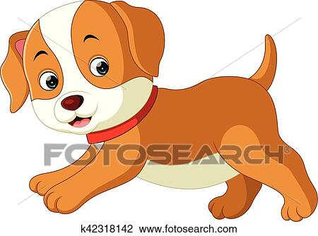 Clipart Of Cute Dog Cartoon K42318142 Search Clip Art
