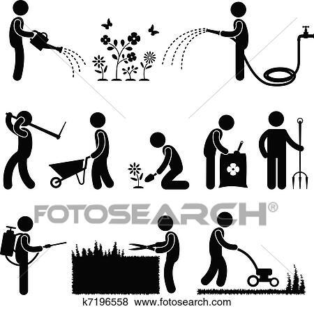 Clip art jardiner a trabajo trabajador jardinero for Trabajo jardinero
