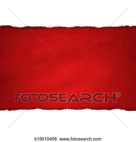 Strappo Bianco Carta E Sfondo Rosso Scuro Archivio Illustrazioni