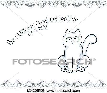 This is a photo of Cat Printable with drawing