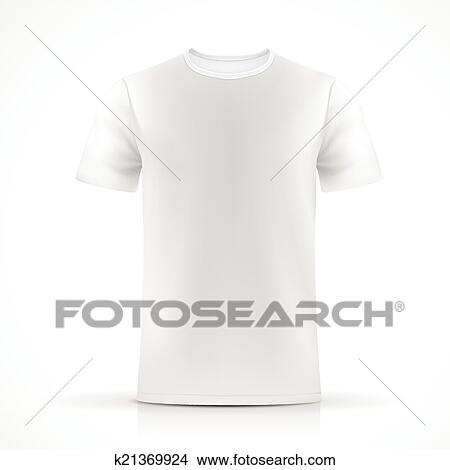 Clipart of white T-shirt template k21369924 - Search Clip Art ...