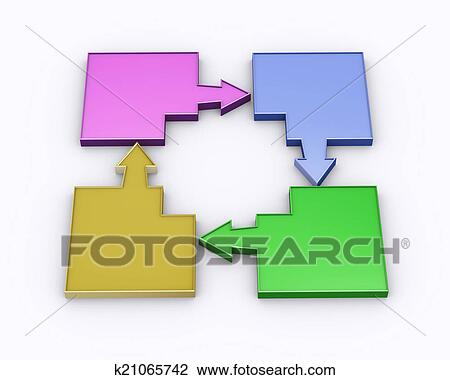 Clip art 3d vaco flecha diagrama flujo k21065742 buscar clip 3d ilustracin de colorido mudanza blanco flecha diagrama flujo diagrama ccuart Images