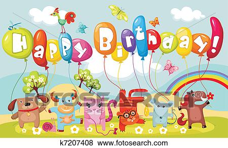 clip art of birthday card k7207408 search clipart illustration
