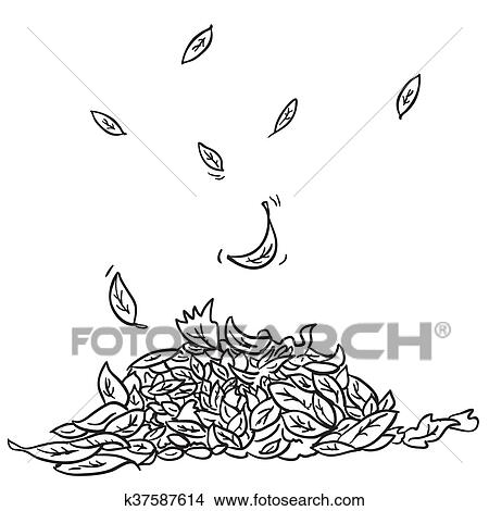 Black And White Leaves Clipart K37587614 Fotosearch
