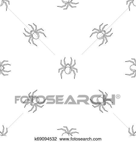 Black Widow Spider Pattern Seamless Drawing K69094532 Fotosearch