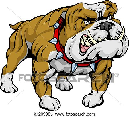 clipart of bulldog clipart illustration k7209985 search clip art rh fotosearch com clip art bulldogs clip art bulldog and paws