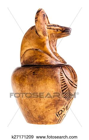 Stock Photograph Of Canopic Jar Isolated K27171209 Search Stock