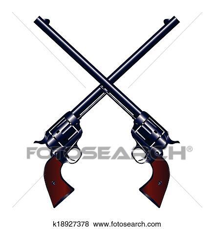 clip art of crossed guns k18927378 search clipart illustration rh fotosearch com tattoo machine clip art free Tattoo Ink