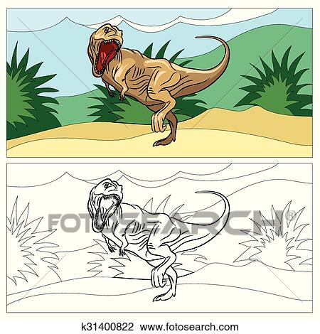 Dinosaur for coloring book Clipart | k31400822 | Fotosearch