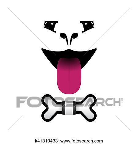 hond, gezicht, logo, voor, huisdier winkelt, vet's, clinics., vector