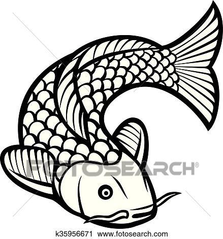 clipart of koi fish k35956671 search clip art illustration murals rh fotosearch com free japanese koi fish clipart koi fish images clipart