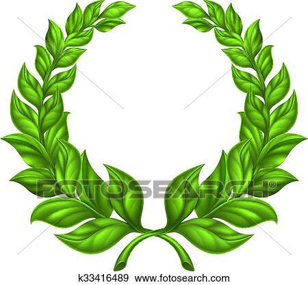 clip art of laurel wreath design k33416489 search clipart rh fotosearch com laurel wreath clipart free laurel wreath clipart free