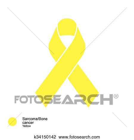 Sarcoma and bone cancer ribbon Clipart