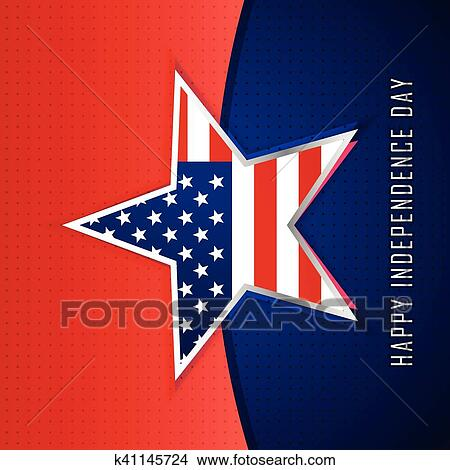 clipart of star with american flag background k41145724 search