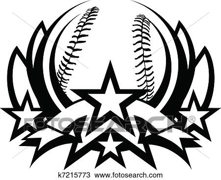 Clipart Of Baseball Vector Graphic Template K7215773