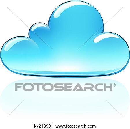 clipart of cloud icon k7218901 search clip art illustration rh fotosearch com cloud computing clipart free cloud computing clipart free