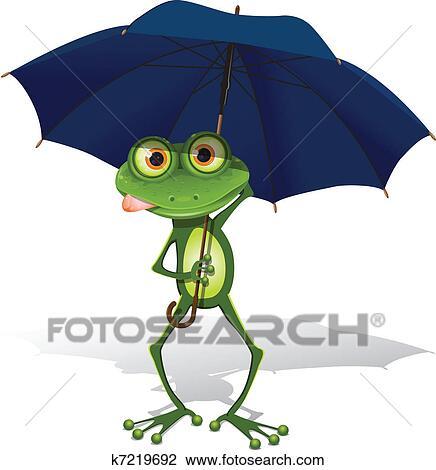 Clipart Grenouille Et Parapluie K7219692 Recherchez Des Clip
