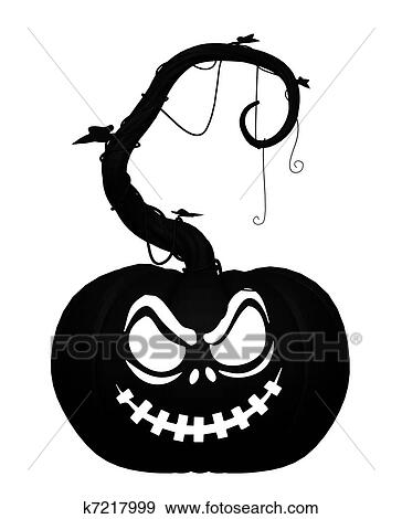 Stock Illustration Of Halloween Jack Olantern Pumpkin K7217999