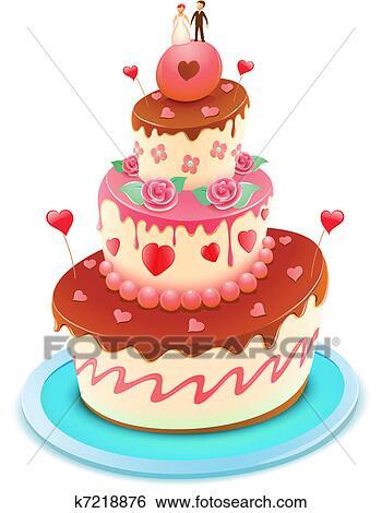 Hochzeit Kuchen Clip Art K7218876 Fotosearch
