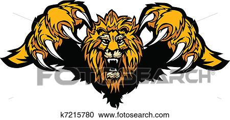 clipart of lion mascot pouncing graphic vector k7215780 search