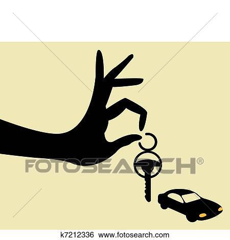 Klipart Odniest Ten Kluc Na Auto K7212336 Prehľadavaj