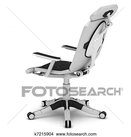 Office Chair In A High Tech Style Stock